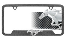 Hydrographic Carbon Fiber Frame With 3D Ford Pony Emblem Decorated With 2.5mm Swarovski Zirconia®