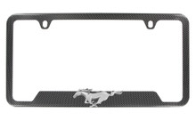 Hydrographic Carbon Fiber Frame With 3D Ford Pony Emblem