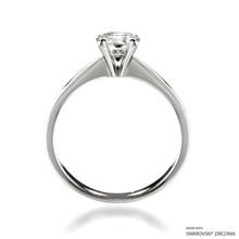 Classic 1 Carat White Solitaire Ring Made With Swarovski Zirconia