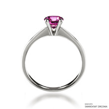 Classic 1 Carat Fancy Pink Solitaire Ring Made With Swarovski Zirconia
