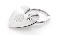 Volkswagen Heart Shaped Key Chain Embellished With Clear Swarovski® Crystals