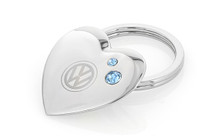 Volkswagen Heart Shaped Key Chain Embellished With Blue Swarovski® Crystals
