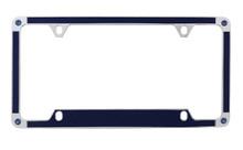 Blue Brush Vinyl Inlay License Plate Frame Embellished With Swarovski® Crystals
