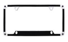 Black Brush Textured Vinyl Inlay License Plate Frame Embellished With Swarovski® Crystals