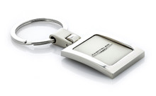 Metal Square Shape Key Chain with Laser Engraved Chrysler Imprint