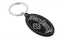 Harley-Davidson® Oval Shape With Harley-Davidson® Word Mark Key Chain