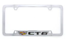 Cadillac CT6 metal license plate frame holder