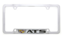 Cadillac ATS metal license plate frame. Quality craftsmanship and best on the market. Durable for harsh weather. Standard US frame size. Official licensed product.