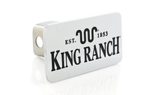 King Ranch est. 1853 Wordmark Chrome Plated Trailer Hitch Cover Plug (2 inch Post)
