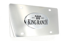 King Ranch Est.1853 Wordmark Chrome Decorative Vanity License Plate