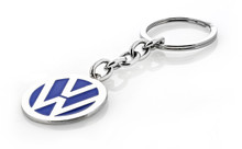 Volkswagen logo key chain with blue color fill