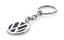 Volkswagen logo key chain with black color fill