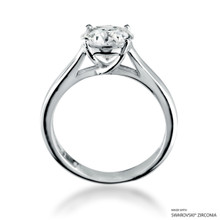 Eternity Love 2 Carat White Solitaire Ring Made With Swarovski Zirconia