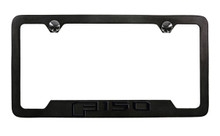 Ford F 150 Black Plated License Frame with logo engraved