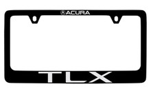 Acura TLX Black Coated License Frame  with logo engraved 2 holes