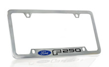 Ford F 250 Chrome Plated Metal Bottom Engraved License Plate Frame Holder 4 Hole