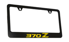 Nissan 370Z Wordmark Bottom Engraved Black Coated Zinc Frame