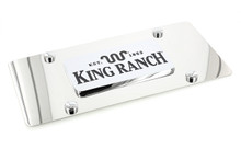 King Ranch Est.1853 Wordmark Chrome Decorative Vanity License Plate by Ford (Square)