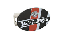 HARLEY-DAVIDSON Wordmark UV Printed Black Coated Finish Metal Hitch Cover