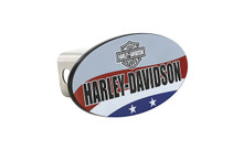 HARLEY-DAVIDSON Wordmark Patriotic Theme UV Printed Metal Hitch Cover