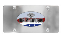 HARLEY-DAVIDSON Patriotic Theme UV Printed Decorative Vanity License Plate Frame