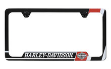 Harley Davidson Wordmark UV Printed Black Coated License Frame Holder 2 Hole