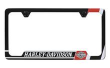 Harley Davidson Wordmark UV Printed Black Coated License Frame Holder 2 Hole
