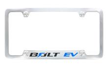 Chevrolet Bolt EV Wordmark Chrome Plated Metal License Plate Frame Holder 4 Hole
