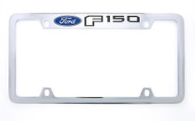 Ford F-150 wordmark chrome plated metal license plate frame holder