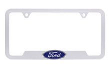 Ford 3D Badge Logo Black ABS Plastic License Plate Frame Holder 2 Hole