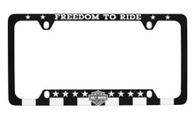 Harley Davidson ' FREEDOM TO RIDE ' Black and White license frame