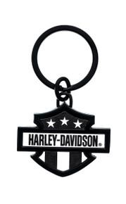 Harley-Davidson® Black and White Key Chain