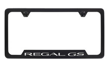 Buick Regal GS Black Coated Metal Bottom Engraved License Plate Frame