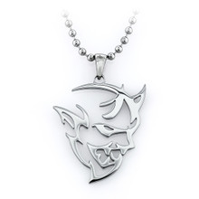 Dodge Challenger SRT Demon Silver 316 Stainless Steel Ball Chain Necklace. 24 inch chain (Silver)