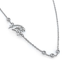 Dodge Baron-Jewelry Challenger SRT Silver Hellcat Necklace with 4 Clear Swarovski Crystals