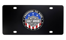 Copy of HARLEY-DAVIDSON ' FREEDOM TO RIDE' Patriotic Red/White/Blue  UV Printed License Plate Cover