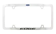 Ford Edge with Logo wordmark Thin Rim chrome plated metal license frame holder