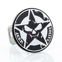 Jeep Nation Star Skull UV printed design Metal Hitch Cover Plug