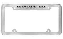 Cadillac Escalade Ext Top Engrave With Block Letters License Plate Frame Holder