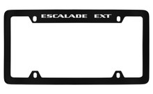 Cadillac Escalade Ext Black Coated Metal Top Engraved License Plate Frame Holder
