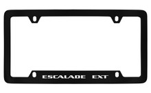 Cadillac Escalade Ext Black Coated Metal Bottom Engraved License Plate Frame Holder