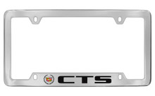 Cadillac CTS Chrome Plated Metal Bottom Engraved License Plate Frame Holder