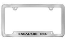 Cadillac Escalade Esv Chrome Plated Metal Bottom Engraved License Plate Frame Holder