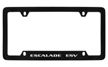 Cadillac Escalade Esv Black Coated Metal Bottom Engraved License Plate Frame Holder