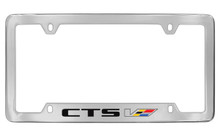 Cadillac CTS-V Chrome Plated Metal Bottom Engraved License Plate Frame Holder