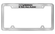 Cadillac Hybrid Escalade Chrome Plated Metal Top Engraved License Plate Frame Holder