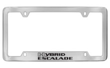 Cadillac Hybrid Escalade Chrome Plated Metal Bottom Engraved License Plate Frame Holder