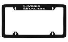 Cadillac Hybrid Escalade Black Coated Metal Top Engraved License Plate Frame Holder