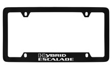 Cadillac Hybrid Escalade Black Coated Metal Bottom Engraved License Plate Frame Holder