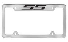 Chevrolet SS Top Engraved Chrome Plated Brass License Plate Frame With Black Imprint